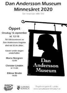 affisch Maria Norgren Dan Andersson