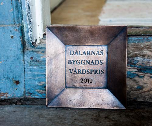 Dalarnas Byggnadsvårdspris 2019 pris Gamla Stugan